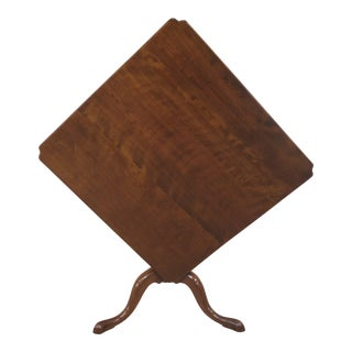 Mid 18th Century Vintage Cherry Tilt Top Table For Sale