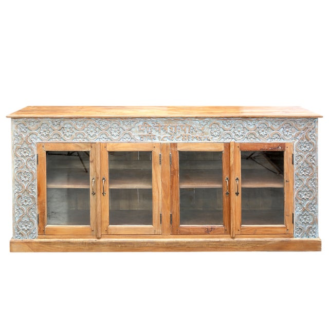 Hand-Carved Panel Sideboard - Image 1 of 5