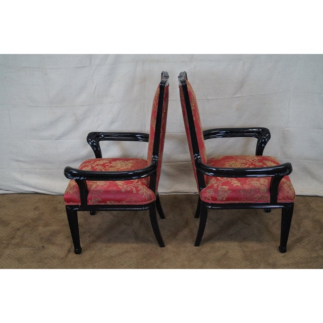 Ebonized Art Nouveau Style Arm Chairs - Pair For Sale In Philadelphia - Image 6 of 10
