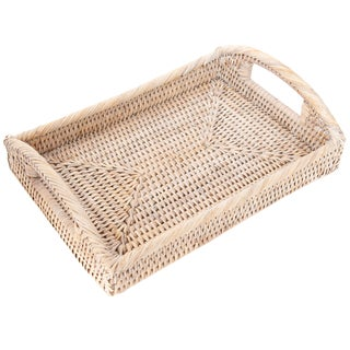 Artifacts Rattan Rectangular Vanity Tray For Sale
