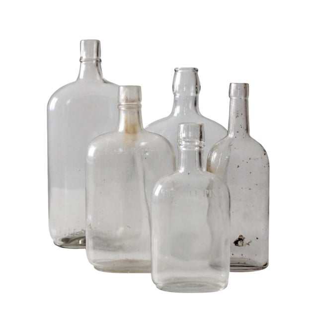 Antique Apothecary Bottle Collection - Set of 5 For Sale