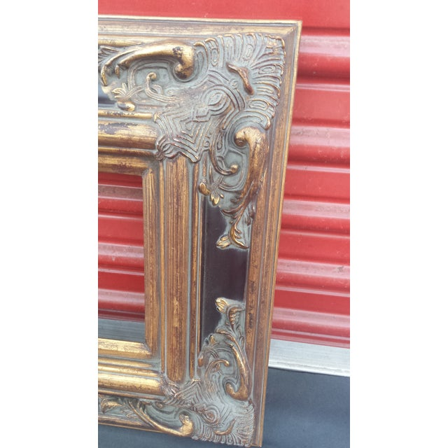 """Ornate Spanish Baroque Dark & Antique Gold Picture Frame/Mirror Frame 8""""x16"""" For Sale - Image 9 of 12"""