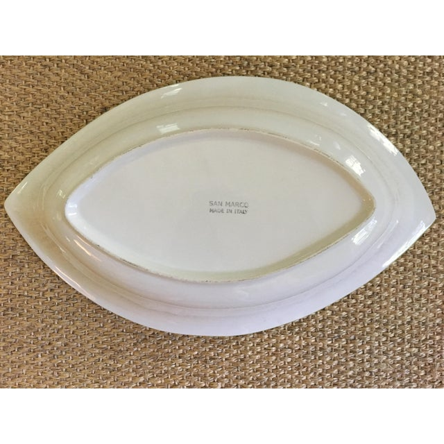1990s 1990s Large Vintage Italian Made, San Marco Ceramics, Banana Leaf Tray/Dish For Sale - Image 5 of 7