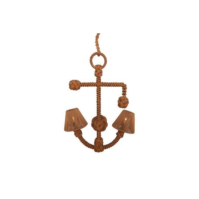 Audoux Minet 'Anchor' Rope Sconce For Sale - Image 9 of 10