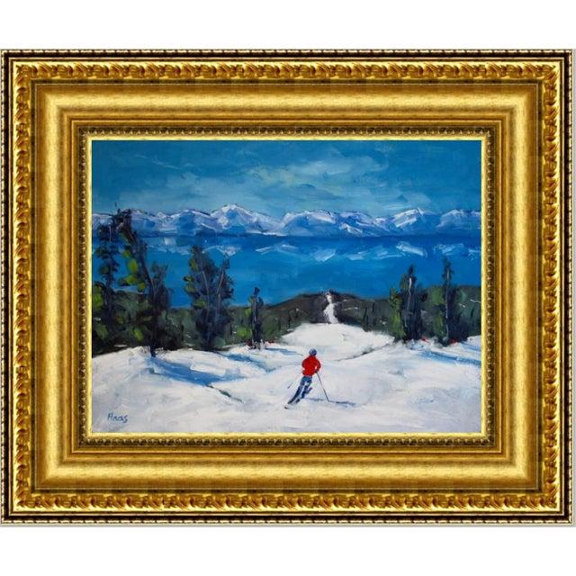 Diamond Peak Run Original Oil Painting Landscape For Sale - Image 12 of 12