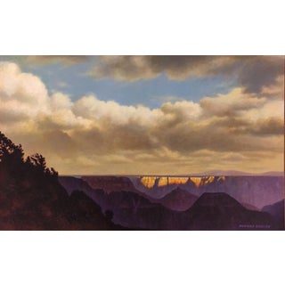 "Howard Koslow ""View of the Grand Canyon"" Acrylic Painting On Masonite For Sale"