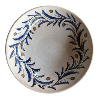 Large Serving Bowl With Olive Branch For Sale