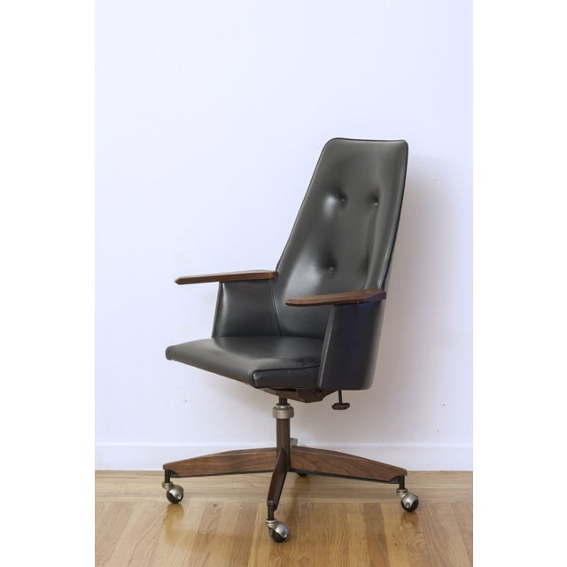 Mid Century Executive High Back Office Chair - Image 3 of 6