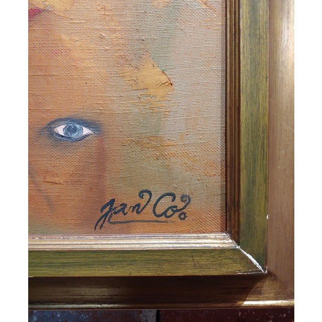 Canvas Many Eyes & Faces Cubist Oil Painting Signed by Janco For Sale - Image 7 of 12