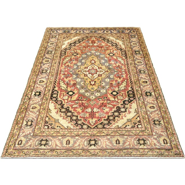 "1960s 1960s Turkish Oushak Rug 4'3"" X 5'11"" For Sale - Image 5 of 7"