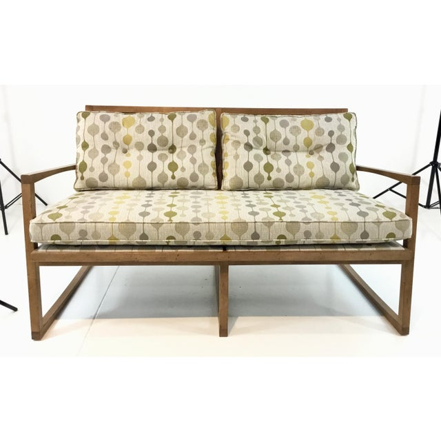 Textile Mid-Century Danish Modern Style Milan Settee By: Currey & Co. For Sale - Image 7 of 7