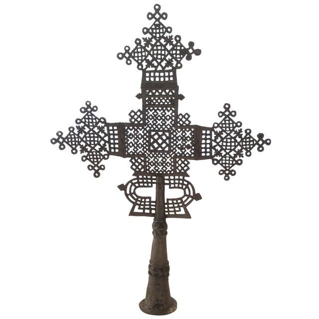 Antique Ethiopian Coptic Processional Cross - Image 1 of 8