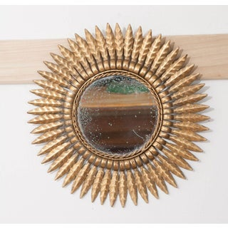 Early 20th Century French Gold Metal Starburst Mirror Preview