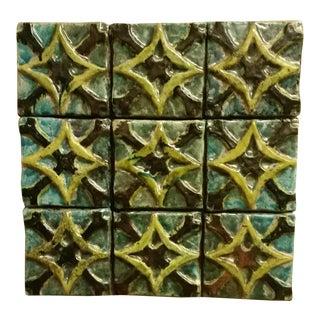 1970s Ceramic Tile Art For Sale