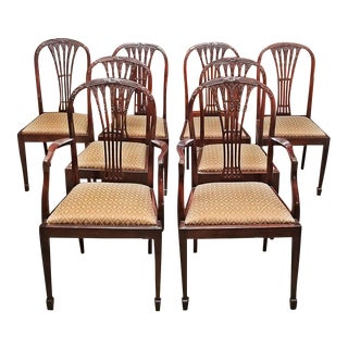 Late 18c Mahogany Hepplewhite Style Dining Chairs - Set of 8 - Exceptional For Sale