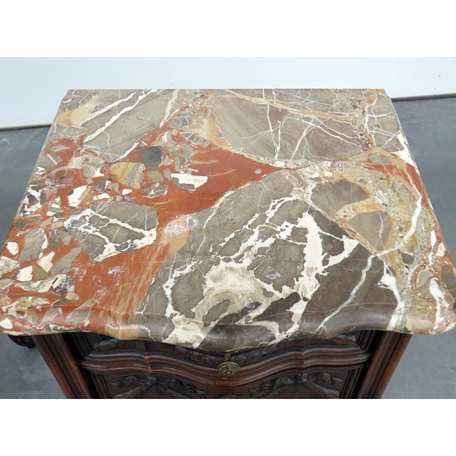 Louis XV Louis XV Style Marble Top End Tables For Sale - Image 3 of 10