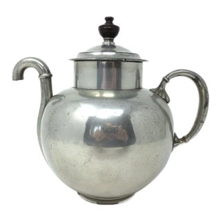 19th Century Victorian Paine Diehl Pewter Teapot