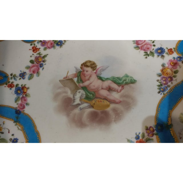 19th Century Beautiful French Sevre Porcelain & Gilt Bronze Center Piece For Sale - Image 5 of 10
