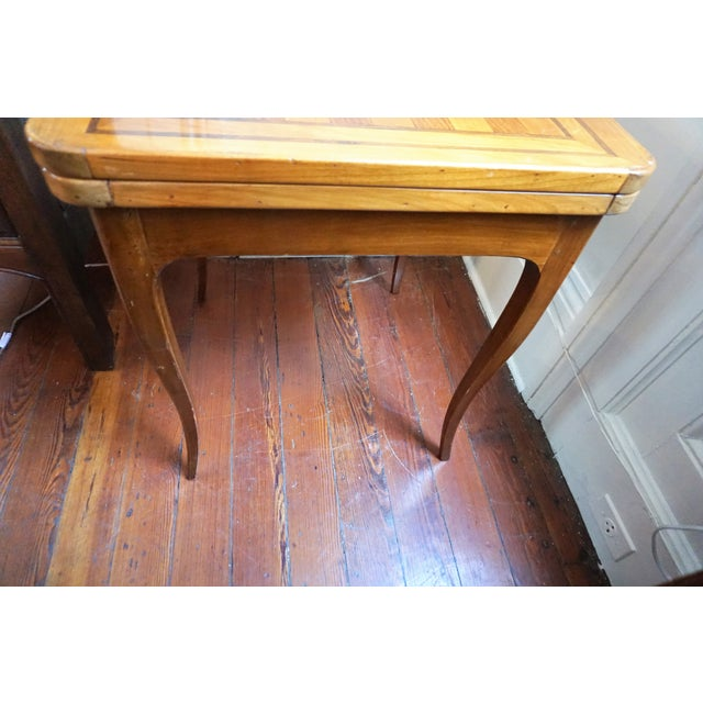 Wood 19th Century French Walnut Game Table For Sale - Image 7 of 9