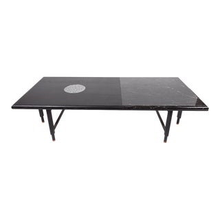 Volk St. Charles Cocktail Table Black Marble For Sale