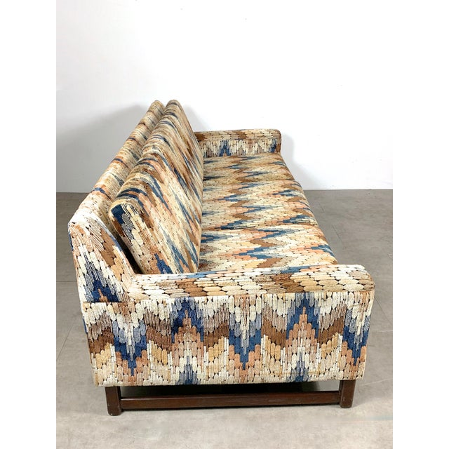 1960s 1960s Vintage Zig Zag Velvet Sofa in the Style of Harvey Probber For Sale - Image 5 of 11