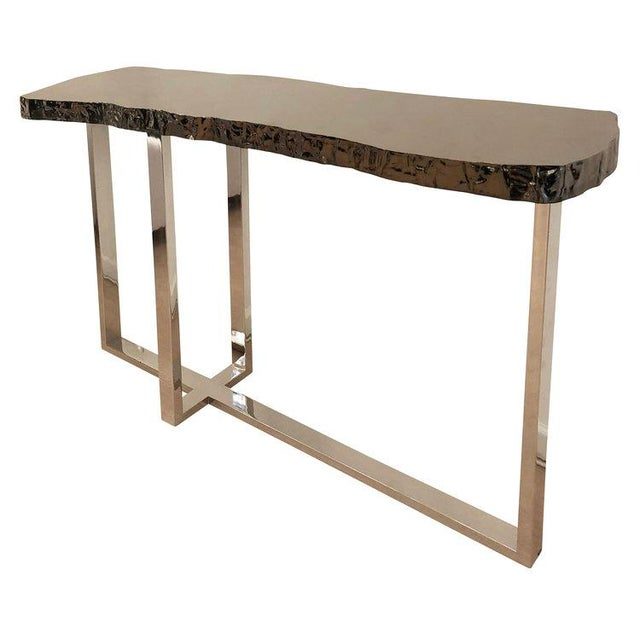 Modern Dark Nickel Console by Ponybox for FormA For Sale - Image 3 of 7
