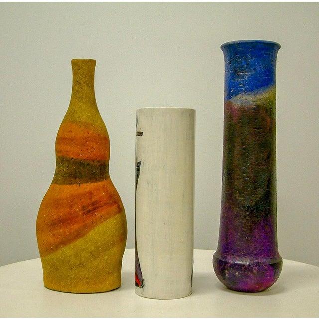 Ceramic Circa 1950 Mid-Century Modern Marcello Fantoni Ceramic Vases - Set of 3 For Sale - Image 7 of 8