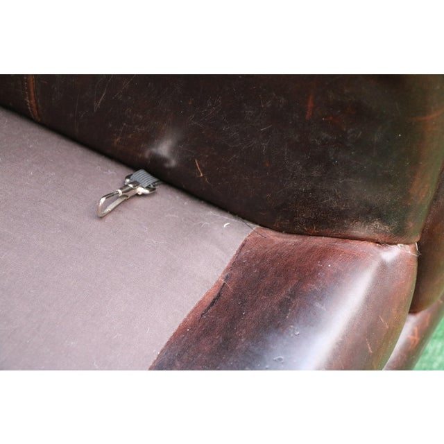 Brown Vanguard Furniture Americana Brown Leather Sofa For Sale - Image 8 of 11