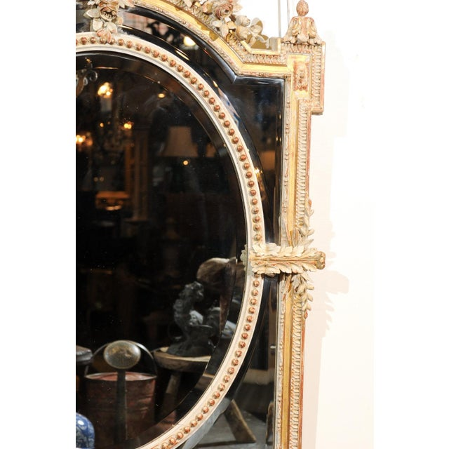 French Louis XVI Style 19th Century Pareclose Mirror with Liberal Arts Symbols For Sale - Image 9 of 13