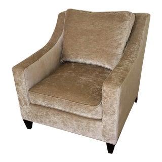 Baker Olive Velvet Arm Chair