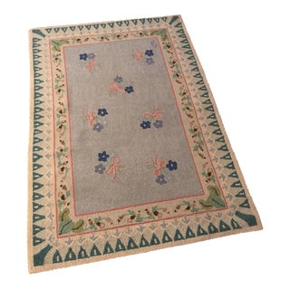 Claire Murray Needlepoint Rug - 3′2″ × 4′8″