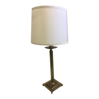 Pair of French Mid-Century Modern Neoclassical Brass Table Lamps, Maison Jansen