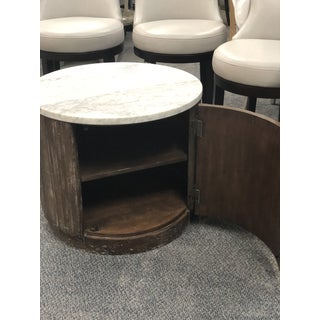 Rustic Fairfield Chair Round Marble End Table Preview