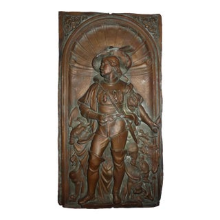 Antique Gustav Grohe German Bronze Wall Plaque For Sale