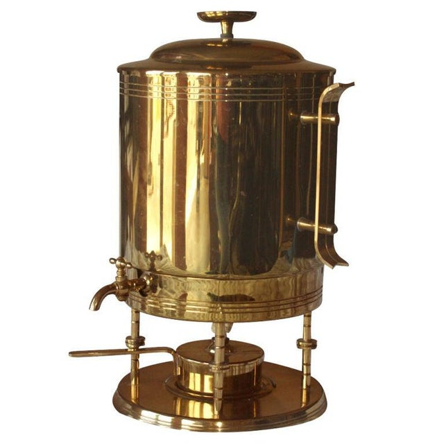1950s Tommi Parzinger for Dorlyn Silversmiths Coffee Hot Water Urn For Sale - Image 5 of 5