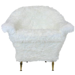 Midcentury Chair in Fur
