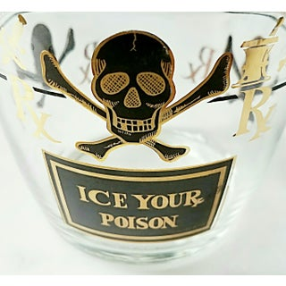 "1960s George Briard Poison Ice Bucket, ""Name Your Poison"" Pattern Preview"