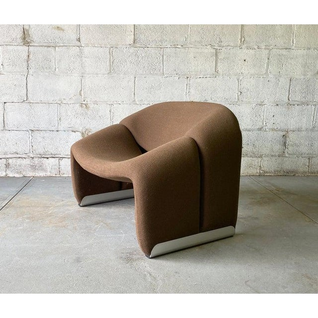 "1970s Mid Century Modern ""Groovy"" Armchair by Pierre Paulin for Artifort, Holland For Sale - Image 5 of 11"