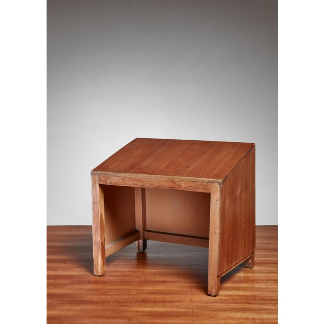 A rare teak lectern from the Chandigarh High Court, designed by Pierre Jeanneret. Beautiful console to present your...