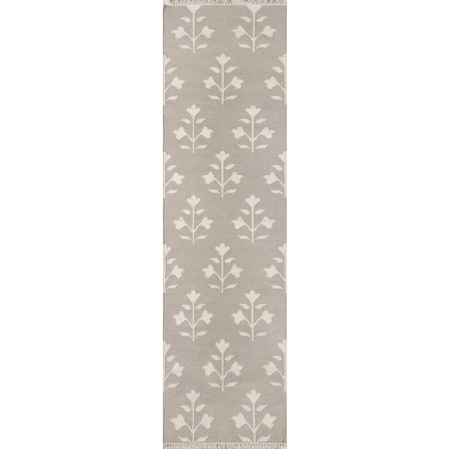 """Textile Erin Gates Thompson Grove Grey Hand Woven Wool Runner 2'3"""" X 8' For Sale - Image 7 of 7"""