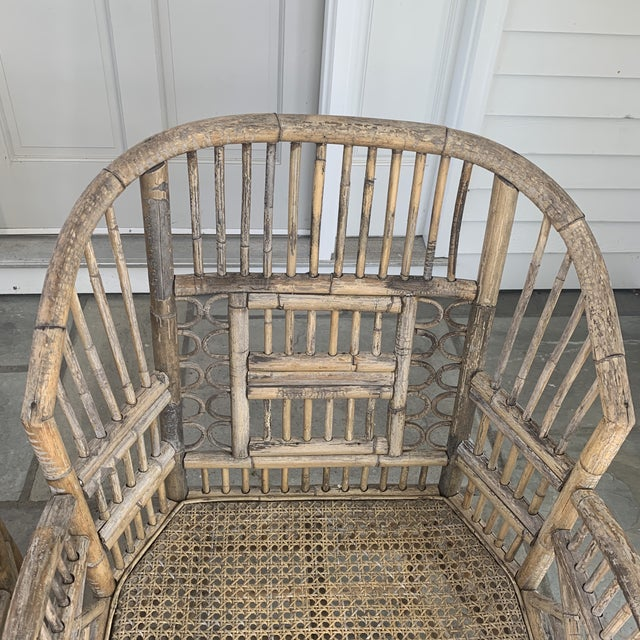 Pair of Vintage Bamboo Brighton Chairs For Sale In New York - Image 6 of 11