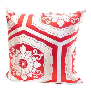 Japanese Vintage Obi Fabric Pillow For Sale