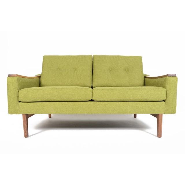 """Mid-Century Style """"Piedmont"""" Sofa in Avocado - Image 3 of 10"""