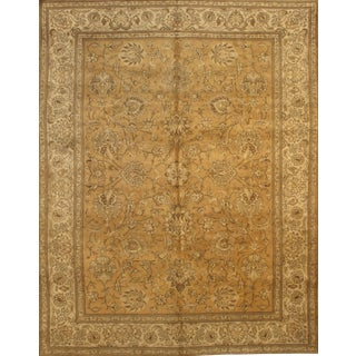 "Pasargad Ny Antique Persian Tabriz Wool Pile Rug - 9'6"" X 12'4"" For Sale"