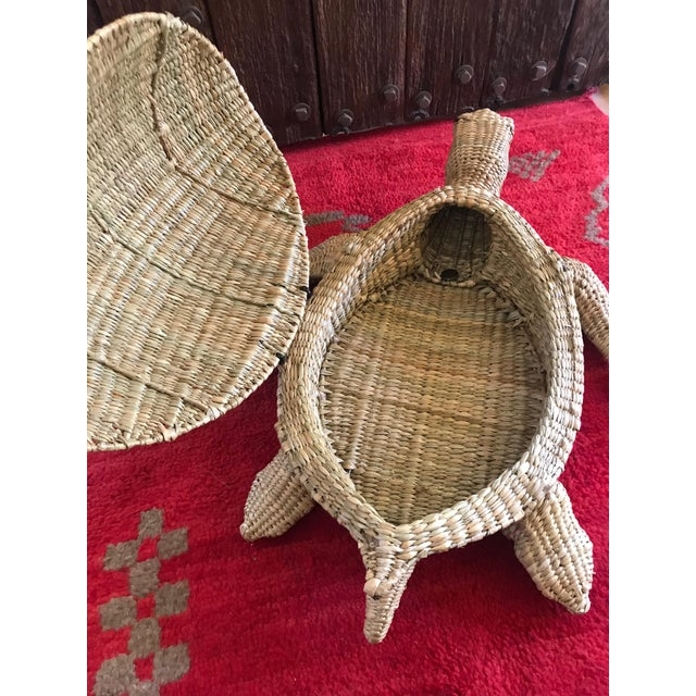 2010s Mario Lopez Torres Woven Sea Turtle Decorative Storage Container For Sale - Image 5 of 8