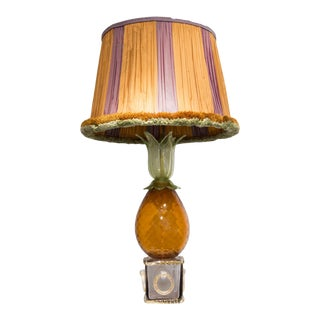 Table Lamp in Glass With Pineapple Shape, by Seguso, Circa 1950 For Sale