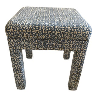 Upholstered Parsons Style Ottoman For Sale