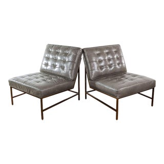 Mitchell Gold + Bob Williams Major Leather Chairs - a Pair For Sale