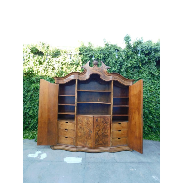 French 1920s French Oakwood Hutch For Sale - Image 3 of 13