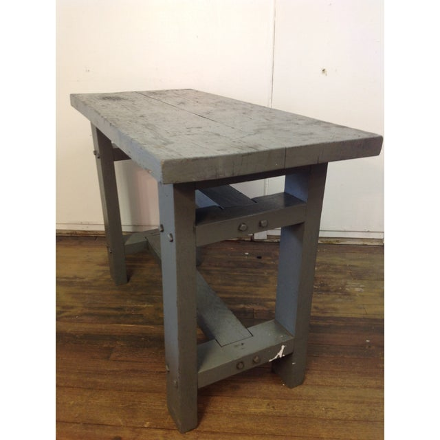 Primitive Industrial Gray Potting Table - Image 2 of 10